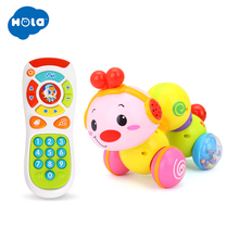 цена на baby toys crawling insect toy combination music phone phone children toddler 6 months 0-1 years old baby