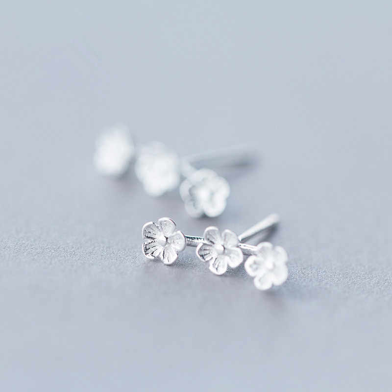 Fashion Flower Stud Earring for Women Girls Kids Gift 925 Sterling Silver Earring Sterling-Silver-Jewelry Pendientes Mujer EH824