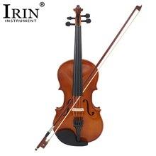 IRIN 4/4 полный Размеры натуральные акустические скрипка ремесло O с Чехол Mute лук строки 4-струнный инструмент для Beiginner