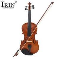 IRIN 4/4 Volle Größe Natürliche Akustische Violine Geige Handwerk Violino Mit Fall Stumm Bogen Saiten 4-String Instrument Für beiginner