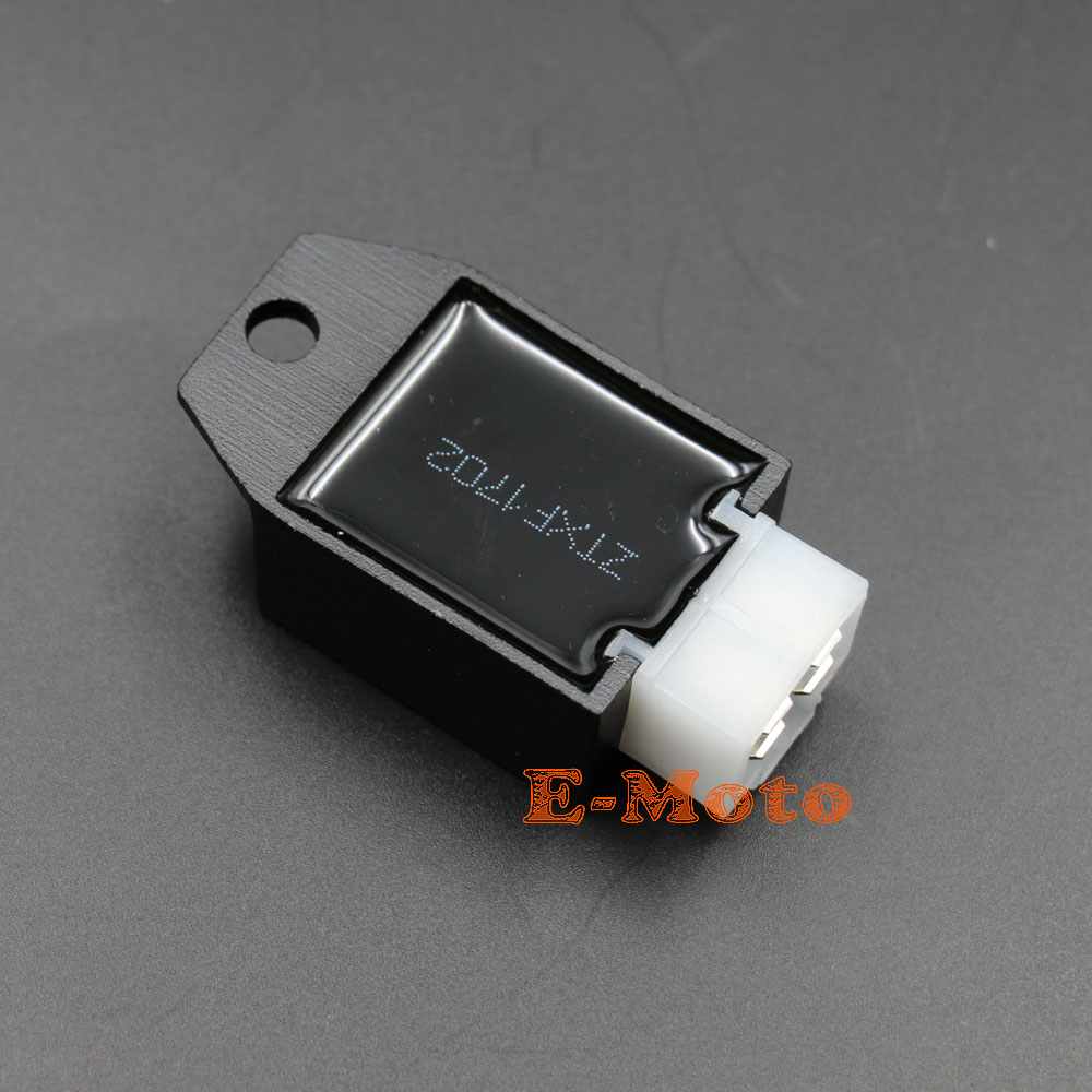 hight resolution of 12v voltage regulator rectifier gy6 qmb139 4pin 50cc 150cc scooter moped atv dirt bike go kart