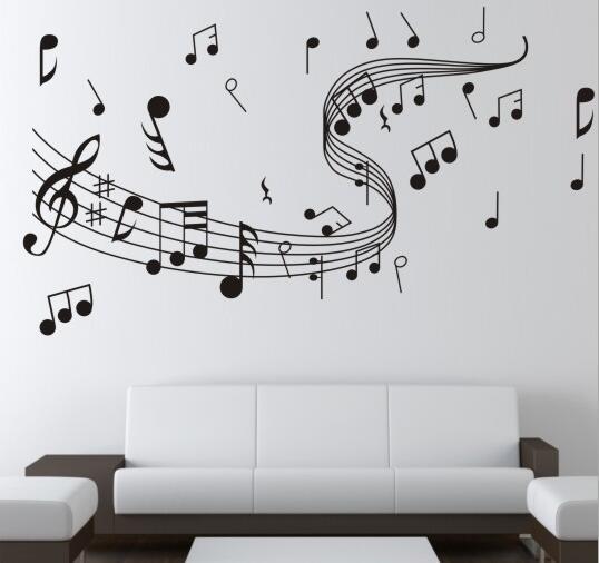 Diy musik notation quote wandaufkleber wohnzimmer vinyl schlafzimmer ...