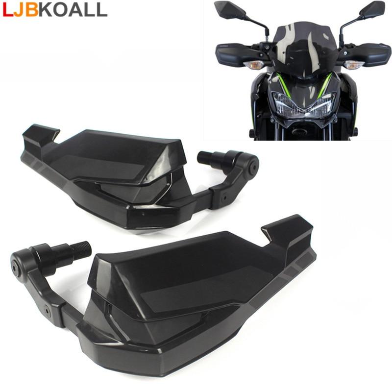 2 Pcs High Quality Black Motorcycle Handle Guard BRUSH BAR HAND GUARDS Protector For Kawasaki Z900 2017 New Arrival Free Ship цена