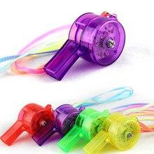 Мигающий свисток красочный шнурок светодиодный светильник веселье в темноте вечерние Rave ребенок Рождественский подарок