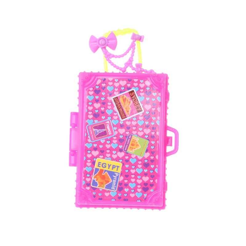 Acessórios Da Boneca Brinquedos para Crianças Bagagem Mala de Viagem da moda Para Boneca