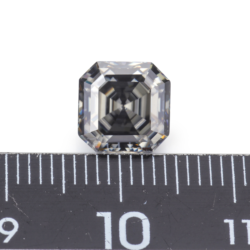 Moissanites Diamonds Grey Color 8*8mm Asscher Cut Moissanites Loose Stones Gemstone