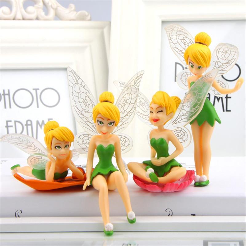 Gnome In Garden: 4Pcs Cartoon Fairy Figurines Fairy Garden Miniatures