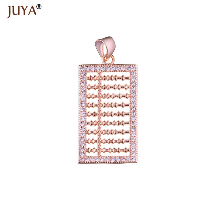 Abacus Charms For Jewelry Making Gold Silver Rose Gold Copper Zircon Pendants Charm diy fashion Jewellery Accessories gift