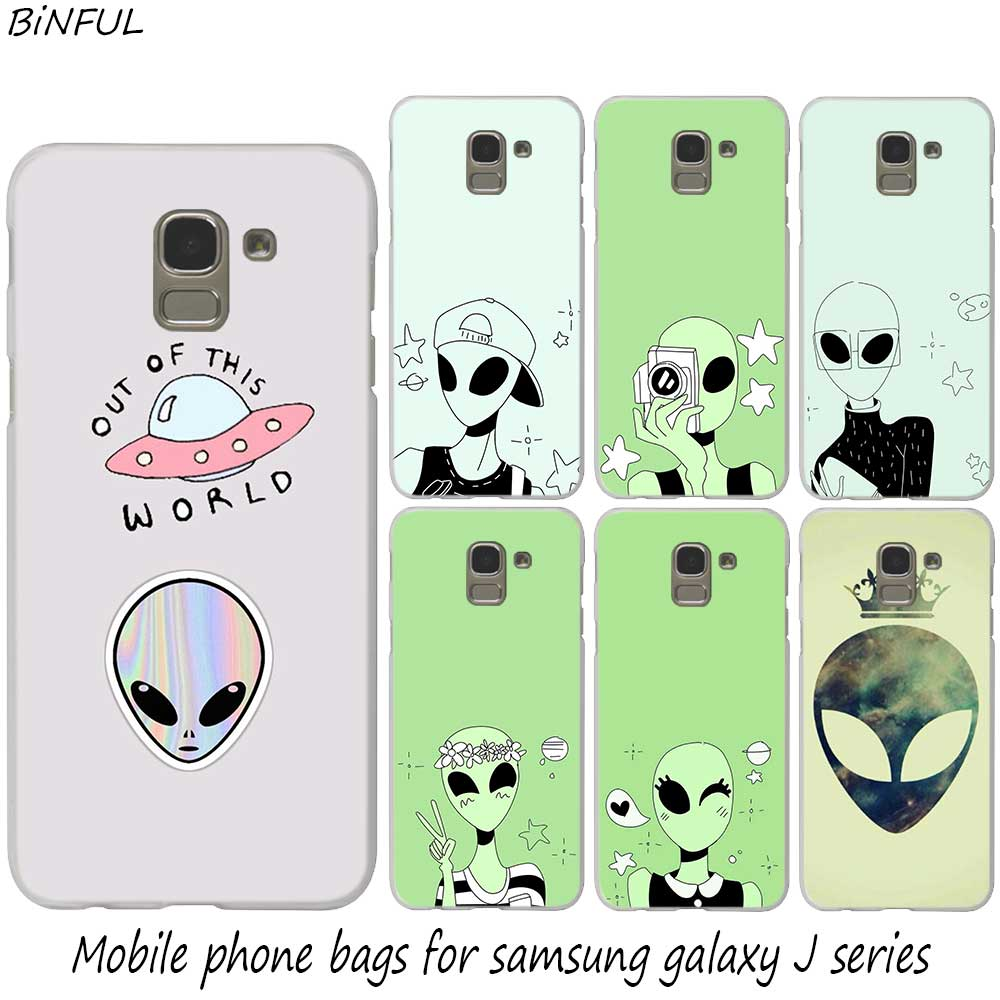 Cute drawings aliens hot fashion hard phone cover case for samsung j2 j3 j5 j4 j6 j7 j8 2018 2016 j7 2017 eu j6 prime cover