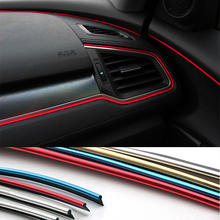 ФОТО 5m anti scratch bar car door edge rubbing strip collision rubber bumper protection sticker line auto styling mouldings red blue
