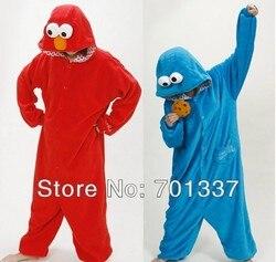 Mesdames hommes bleu ou rouge oiseaux adultes Onesies animaux Onsie Jumpsuit Pyjamas Pyjamas 301 S/M / L / XL / XL
