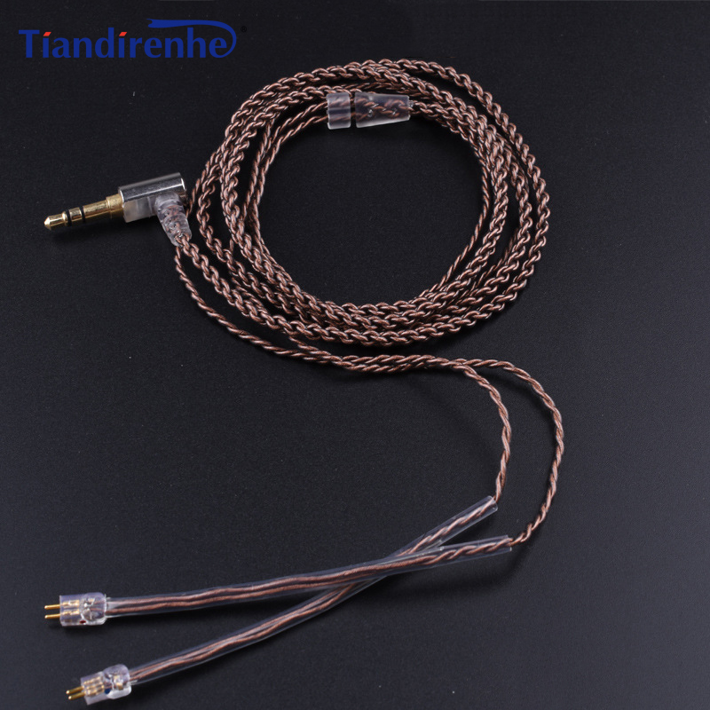 New 0.78mm 2 Pin Replacement Cable for Weston TFZ 1964 w4r um3x es3 es5 Earphone Headset iPhone xiaomi Samsung Android IOS