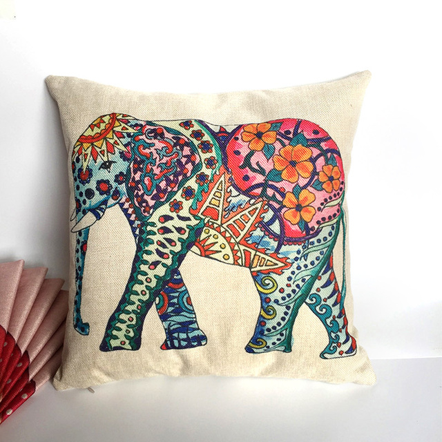 Elephant Cushion Pillow Case Cover Decorative Pillows Decorative Impressive Pillow Case Covers For Throw Pillows