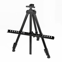 Black Color Metal Sketch Easel Foldable Easel Display Aluminum Alloy Easel Sketch Drawing Frame For Outdoor Artist Art Tools