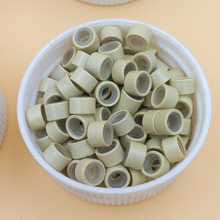 1000pcs Feather Hair Micro Ring Beads Links tubes with silicon lined  mix  for hair exensions styling tools tool