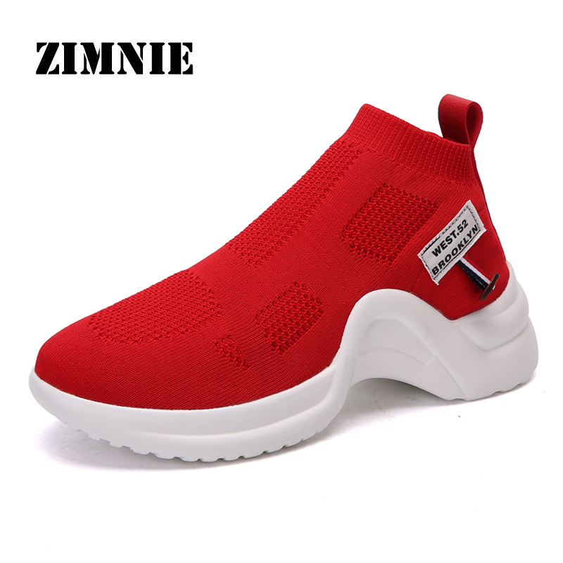 ZIMNIE Brand New Fashion Fly Weaving Shoes Unisex Breathable Slip-On Causal Stretch Casual High Top Men Women Shoes Size 35~40ZIMNIE Brand New Fashion Fly Weaving Shoes Unisex Breathable Slip-On Causal Stretch Casual High Top Men Women Shoes Size 35~40