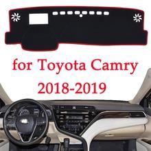 Araba dashboard ışıklı çerçeve enstrüman platformu Masası Kapağı Paspaslar Halı önlemek Için Toyota Camry 2018 2019 Otomotiv iç ürün