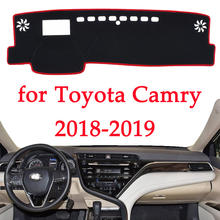 Auto dashboard vermeiden licht pad instrument plattform Schreibtisch Abdeckung Matten Teppiche Für Toyota Camry 2018 2019 Automotive innen produkt