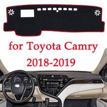 Evitar a luz do painel do carro instrumento pad Cover Secretária plataforma Mats Tapetes Para Toyota Camry 2018 2019 produto interior Automotivo