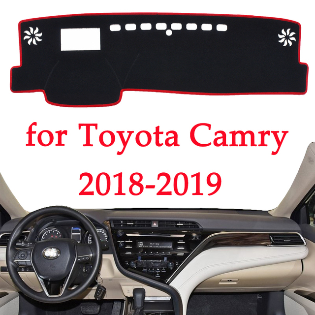 car dashboard avoid light pad instrument platform Desk Cover Mats Carpets For Toyota Camry 2018 2019 Automotive interior product