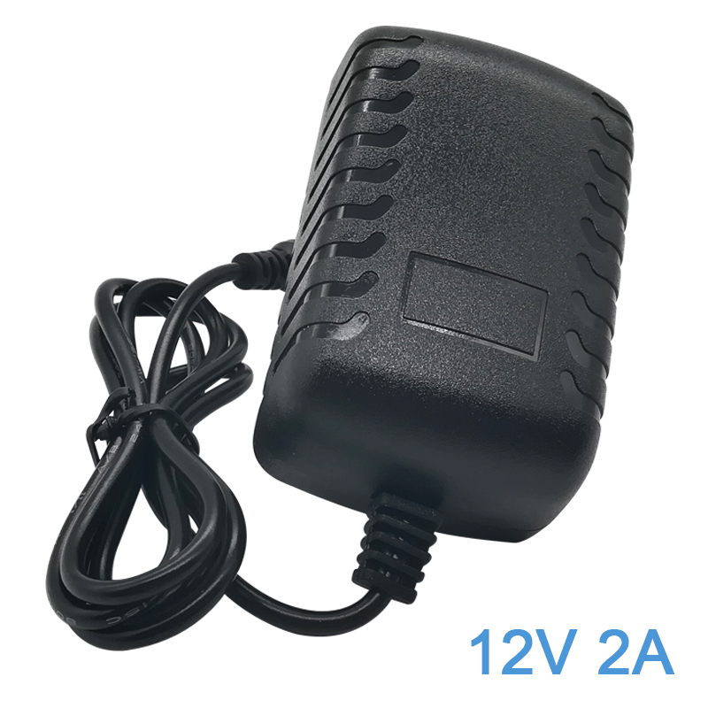 <font><b>AC</b></font> 100-240V to <font><b>DC</b></font> 12Volt <font><b>2A</b></font> Transformers Switching Power <font><b>Adaptor</b></font> for <font><b>12V</b></font> 3528/5050 LED Strip Lights String with 5.5*2.5mm image