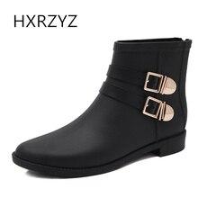 HXRZYZ женщин дождь сапоги дамы молнии резиновые сапоги весной и осенью моды ПВХ пряжкой водонепроницаемый Slip-Resistant обувь женщин