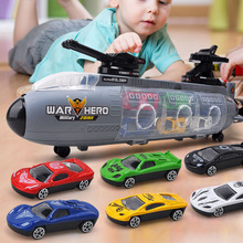 New 6-piece 12-piece Set / 53CM Large Alloy Military Model Kit Childrens Toy Portable Gunboat Sports Car Gifts