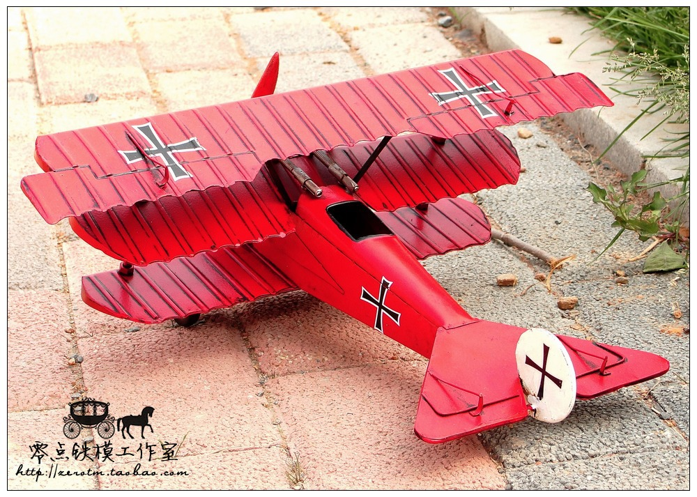 Antique tin plane ornaments handmade aircraft model ...