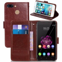 GUCOON Vintage Wallet Case For Oukitel U20 Plus 5 5inch PU Leather Retro Flip Cover Magnetic