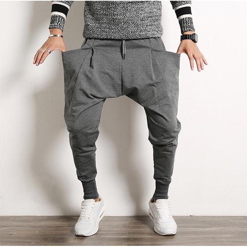 New Casual Harem Pants Hip Hop Dance Sporty Hiphop Mens Sweat Pants Man Trousers Sweatpants