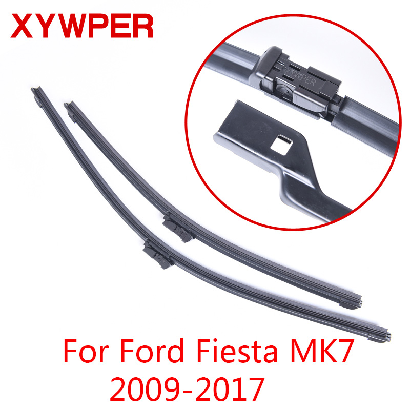 цена на XYWPER Wiper Blades for Ford Fiesta MK7 2009 2010 2011 2012 2013-2016 26&15 Car Accessories Soft Rubber car windscreen wipers