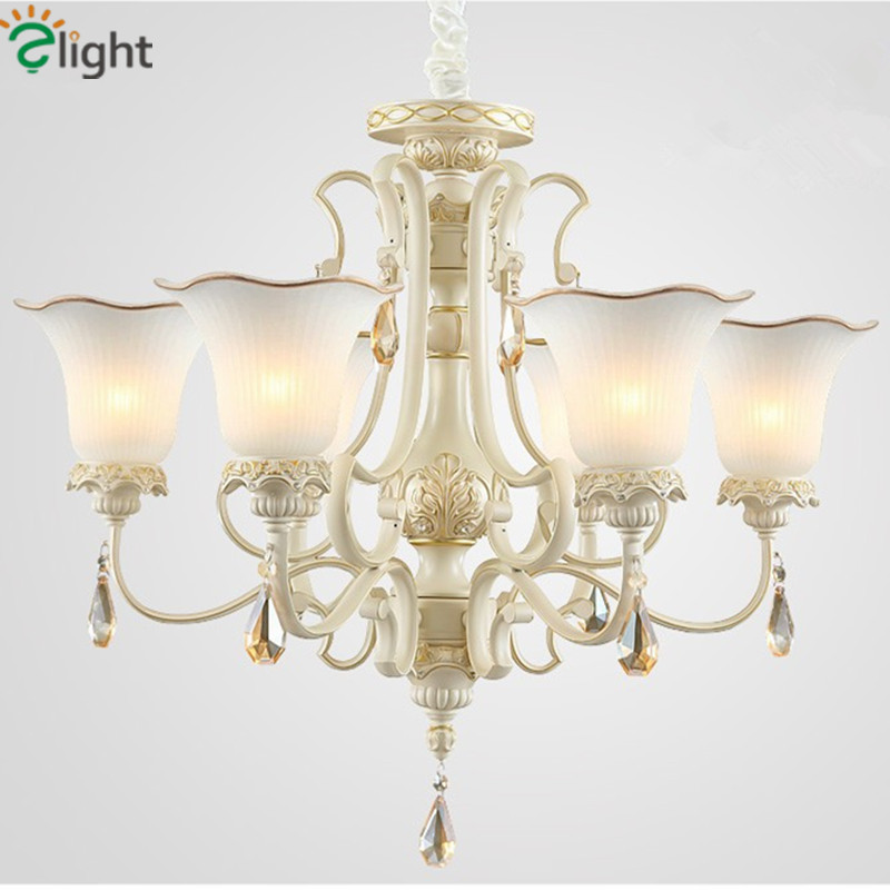 Europe Retro Resin Led Pendant Chandeliers Lamparas Lustre Crystal Glass Living Room Led Chandelier Lighting Led Hanging Lights modern led crystal chandelier lights living room bedroom lamps cristal lustre chandeliers lighting pendant hanging wpl222