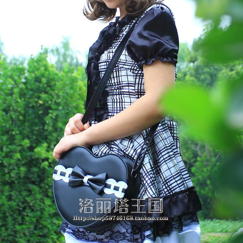Lolita Princess Lolita bag cos bag bow heart laciness messenger bag loris011