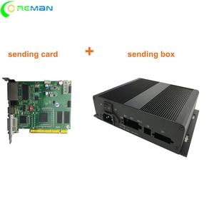 Image 1 - sending card + sending box  linsn TS801d TS802D  video led screen controller