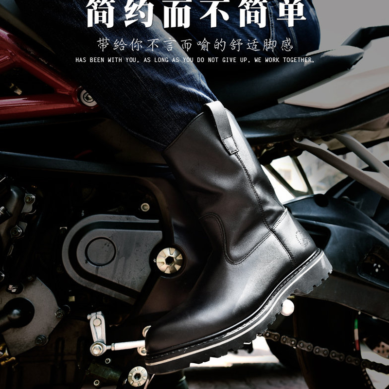 2017 Top Quality Handmade Men Winter Boots Genuine Leather Platform Motorcycle Shoes High Men's Work Boots  Outdoor Casual Botas winter warm high quality outdoor men shoes comfortable casual shoes men fashion genuine leather high top flats for men xxz5