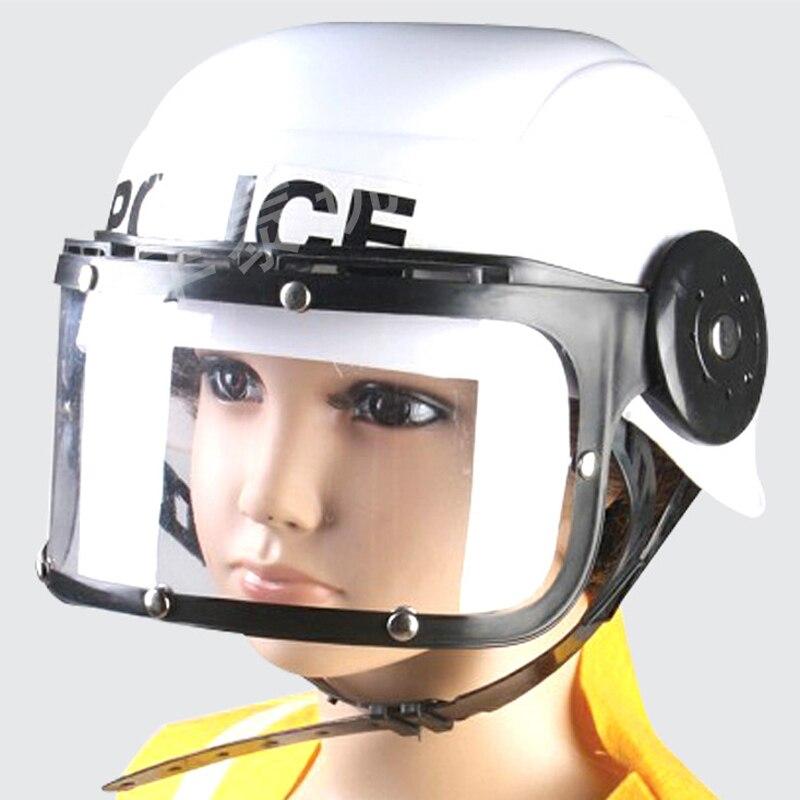 Tronzo 5Pcs Pretend Play Police Role Play Set Toys Police Handcuffs Helmet Walkie Talkie Police Baton Emblem Set For Boy