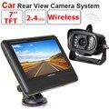 """12 v-24 v 2.4g câmera traseira Do Carro Sem Fio 7 """"Monitor de Vídeo de estacionamento kit, wi-fi sistema de câmera reversa Rear view Monitor de backup caminhão"""