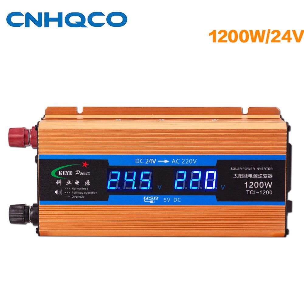 цена на 1200W Power inverter 24 V 220 V Voltage Converter DC 24V to AC 220V Solar Power Inverter with USB Charger AE182