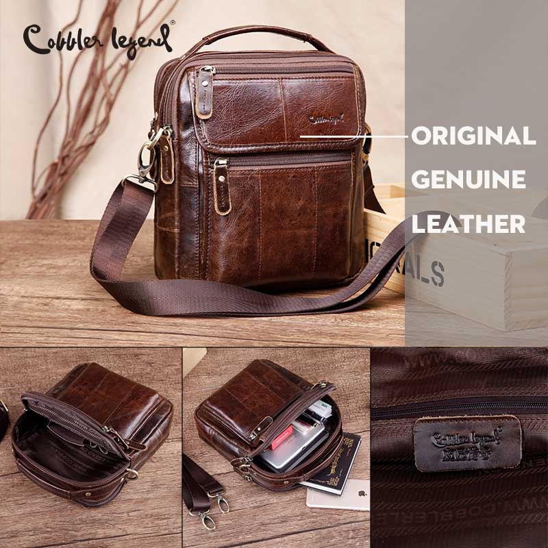 cff66b00c7a9 Cobbler Legend Genuine Leather Mens Bags Small Flap Casual Messenger Bag  Male Crossbody Bags Men s Shoulder Bag Business Handbag on Aliexpress.com