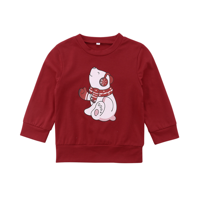 2018 Brand Family Matching Outfits Christmas Family Matching Women Men Kids Sweatshirt Hoodies Sweater T shirt.jpg 640x640 - Set Bluze cu Maneca Lunga - Ursulet
