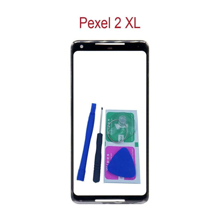 "Para Google Pixel 2 XL 2XL XL2 6,0 ""Original teléfono pantalla táctil frontal exterior Panel de vidrio reemplazo con adhesivo + herramientas"