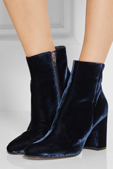 Winter newest royal blue velvet high heel boots round toe ankle boots for woman fashion thick heels woman boots 2017 winter fashion black patent leather woman boots round toe crystal ankle boots high quality thick heels riding boots