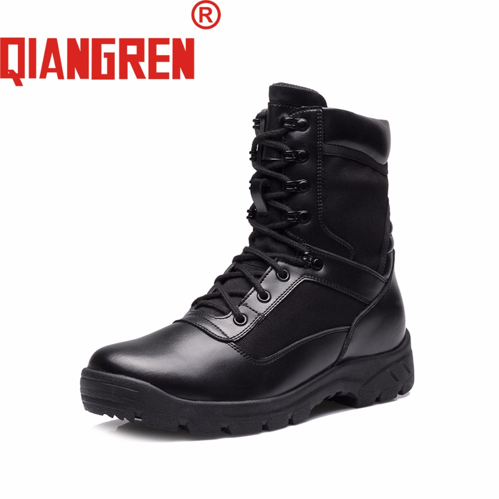 QIANGREN Military Quality Factory-direct Men's Winter Canvas Wool Rubber Outdoors Snow Tactical Boots Botas Militares Warm Shoes new premium promotional yu europe d41x d341x flange rubber seal butterfly valves factory direct quality assurance