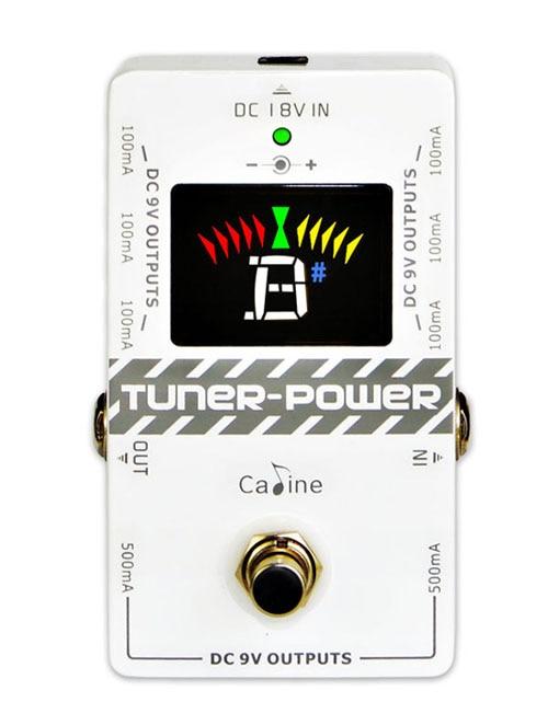 Caline CP-09 tuuner-võimsus 2 in 1 DC 9V kitarriefektide pedaali kaheksale isoleeritud väljundile