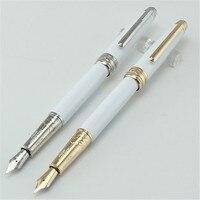 1 pc/lote Metal Fountain Pen 6 Caneta Clássico Cor Vermelho/Preto/Branco Canetas de Ouro/Prata Clipe Alta qualidade 13.4 cm