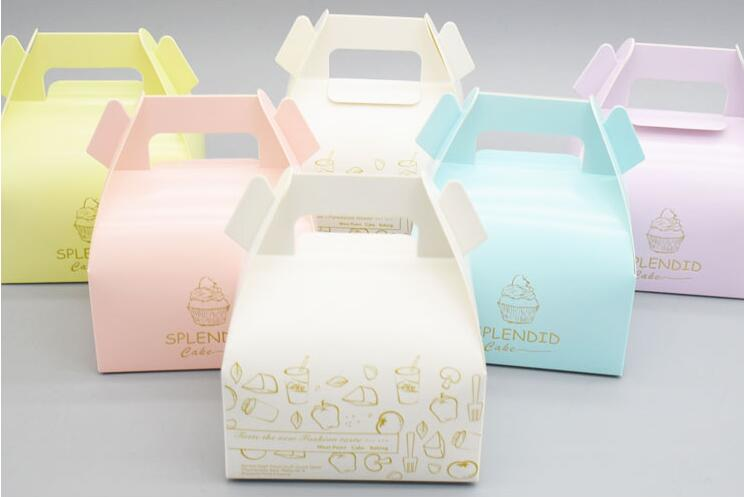 Qin 12 30 Large Cake Box Wedding Favor Cookies Biscuit Bread Cheese Cupcake Takeaway White Paper In Gift Bags Wring Supplies From