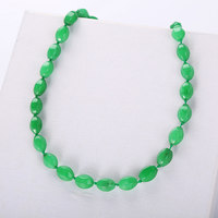 natural green jasper necklace exaggerated female jewelry power gemstone jewelry party geometric jewelry rope bead chain beading