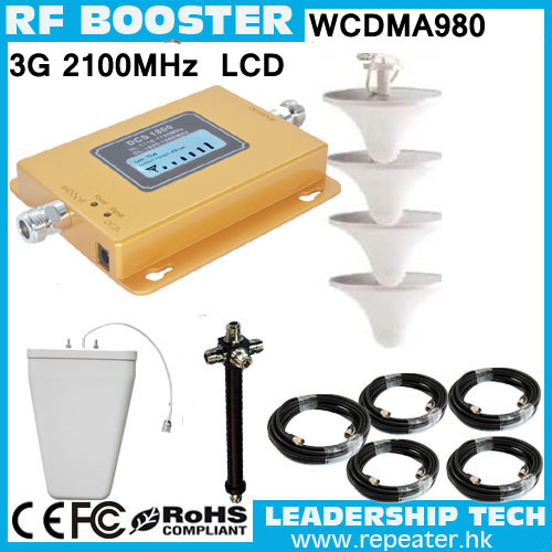 1 Set Cover 1200sqm Wholesale UMTS980 TD-SCDMA HSDPA 2100mhz 3G Mobile/cell Phone Signal Repeater Booster Amplifier Detector