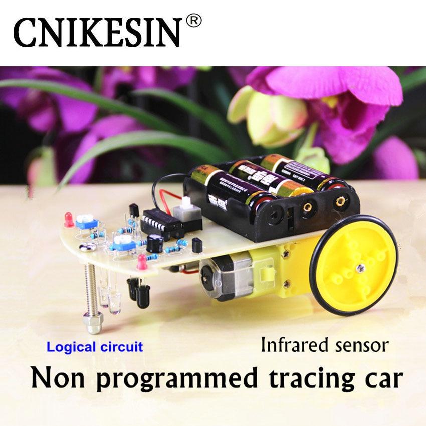 CNIKESIN DIY No Seguimiento de Vehículos de Programación Inteligente Coche Patru