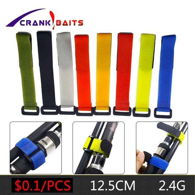 1pcs Reusable Fishing Rod Tie Holder Strap Suspenders Fastener Hook Loop Cable Cord Ties Belt Fishing Accessories YB329